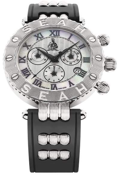 Seah Designs Unisex White/Black Empyrean Zodiac Watch - Aquarius