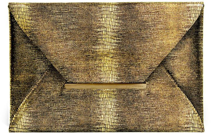 Harlow Textured Envelope Clutch