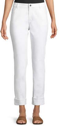 Lafayette 148 New York Thompson Dynamic Herringbone Jacquard Slim-Leg Jeans
