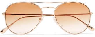 Tom Ford Aviator-style Rose Gold-tone Sunglasses