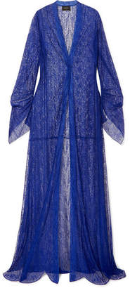 Akris Draped Lace Coat - Cobalt blue