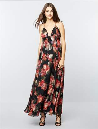 Free People Pea Collection Shadows Printed Maternity Gown