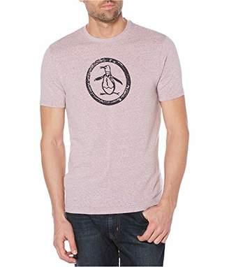 Original Penguin Men's Short Sleeve Triblend Circle Logo Tee