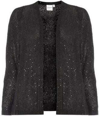 Dorothy Perkins Womens **Juna Rose Curve Black Knitted Cardigan