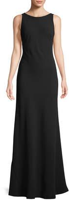 Karl Lagerfeld Paris Sleeveless Drape-Back Trumpet Gown