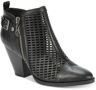 G by Guess Privvy Perforated Booties Women's Shoes $79 thestylecure.com