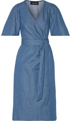 Vanessa Seward Bali Wrap-Effect Washed-Denim Dress