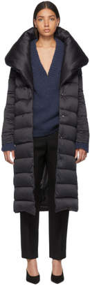 Herno Black Down Long Bonbon Coat
