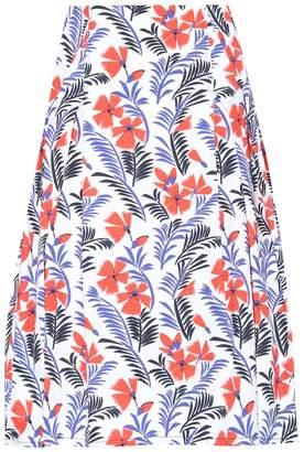 Carolina Herrera Party printed cotton skirt