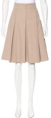 Akris Punto Pleated A-Line Skirt