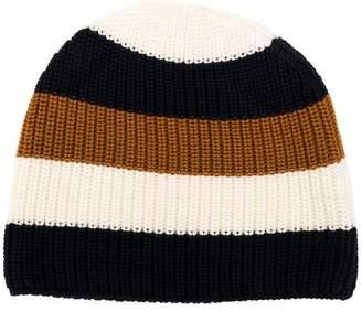 Sunnei striped rib knit beanie