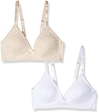47594c820d854 Bestform Women's Junior 2 Pack Cotton Wirefree Bra