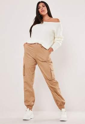 Missguided Plus Size Tan Cargo Pants