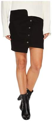 J.o.a. Button Up Asymmetric Hem Skirt Women's Skirt