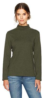 Pendleton Women's Long Sleeve Cotton Mockneck Rib Tee