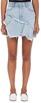GRLFRND Women's Giselle Ruffle Denim Miniskirt
