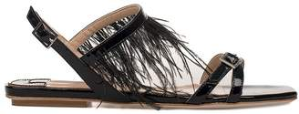 Fabio Rusconi Black Patent Leather Sandal