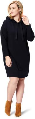 Daily Ritual Women's Plus-Size Cotton Modal Terry Hooded Sweatshirt Dress Dress