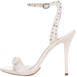 B Brian Atwood Embossed Leather Sandals $65 thestylecure.com
