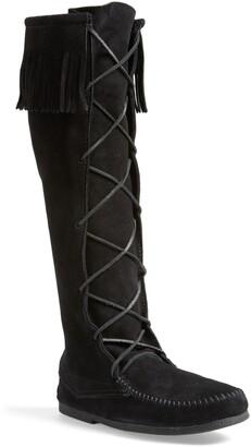 Minnetonka Knee High Moccasin Boot