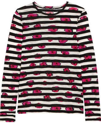 Proenza Schouler Printed Slub Cotton-jersey Top - Bright pink