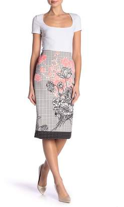 ECI Patterned Pencil Skirt