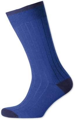 Charles Tyrwhitt Royal Cotton Rib Socks Size Large