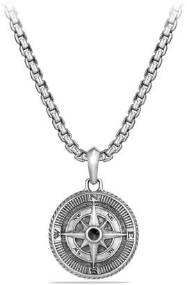 David Yurman 'Maritime' Compass Amulet with Black Diamond