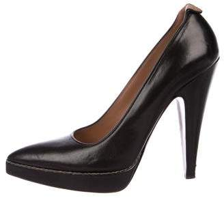 Alaia Leather Pointed-Toe Pumps