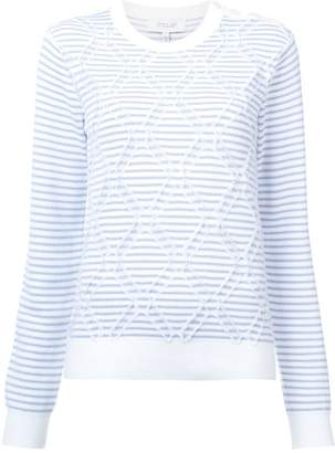Derek Lam 10 Crosby geometric embroidery jumper