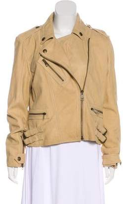 Burberry Asymmetrical Suede Jacket