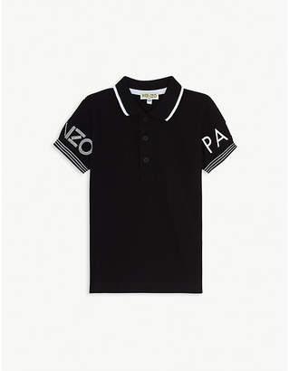 Kenzo Logo-embroidered cotton polo shirt 4-14 years