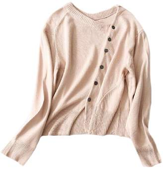 Goodnight Macaroon 'Unnie' Asymmetrical Buttoned Cardigan (2 Colors)