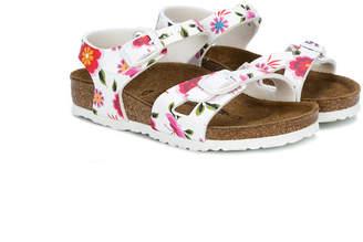 Birkenstock Kids floral print flat sandals