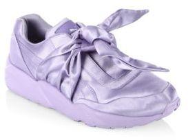 PUMA FENTY Puma x Rihanna Satin Bow Sneakers $160 thestylecure.com