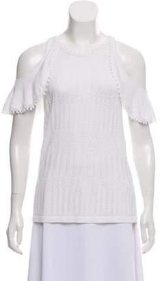 Jonathan Simkhai Crocheted Cold-Shoulder Top