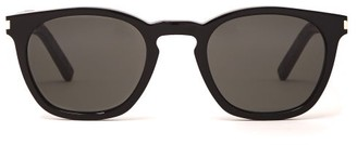 Saint Laurent Round Acetate Sunglasses - Mens - Black