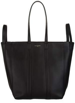 Balenciaga Leather Laundry Tote Bag