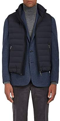 D'Avenza Men's Down-Quilted Tech-Taffeta Vest
