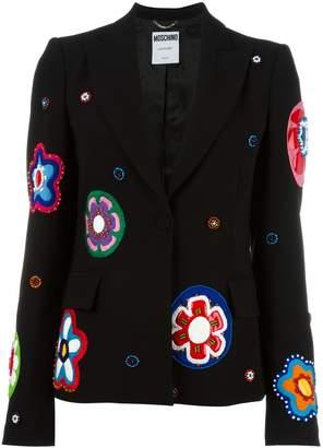 Moschino flower appliqué blazer
