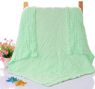 NUOMI Cotton Toddler Bed Blanket 6 Layers, Baby Sleeping Cover Quilt, Untwisted Yarn Soft Warm Throw Nursery Crib Bedding