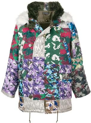 Gosha Rubchinskiy camouflage padded coat