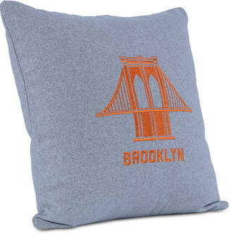 "Berkshire Brooklyn Industries Embroidered Brooklyn Bridge 18"" Square Decorative Pillow"