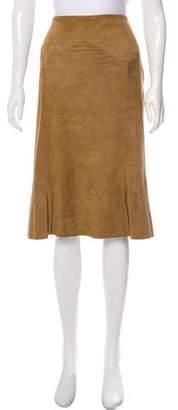 Ralph Lauren Suede Knee-length Skirt