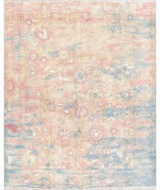 "Astoria Grand One-of-a-Kind Miranda Over-Dyed Antique Look Persian Hand-Knotted 9'8"" x 11'10"" Wool Pink Area Rug Astoria Grand"
