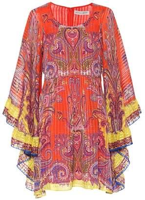 Etro Paisley silk minidress