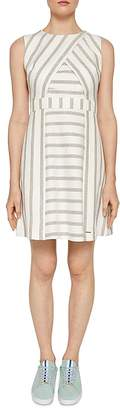 Ted Baker Colour By Numbers Tee Striped Dress