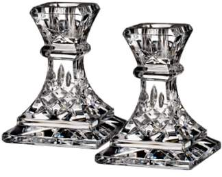 Waterford 'Lismore' Lead Crystal Candlesticks