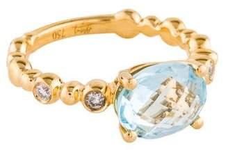 Michael Aram 18K Topaz & Diamond Cocktail Ring