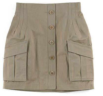 Alexander Wang Button Cargo Skirt